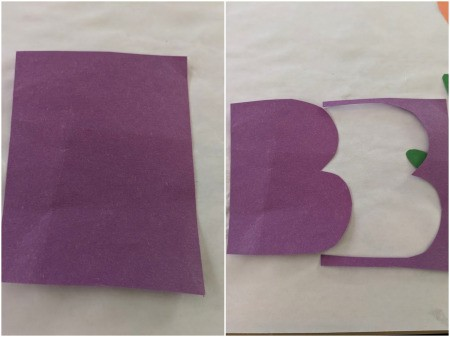 Boo Banner - draw and cut out a capital letter B