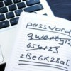 A list of passwords with old ones crossed out.