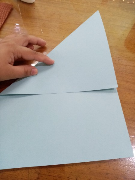 Paper Fish - fold a piece of paper to create a triangle