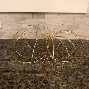 Wire Pumpkin - finished copper wire pumpkin