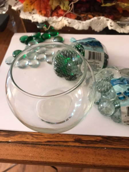 Christmas Lighted Bowl  - supplies