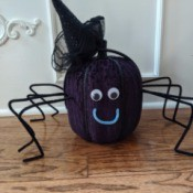 Witch Spider Pumpkin Home Decor - spider wearing a witch hat headband