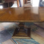 Value of an Antique Table - table with leaves extended