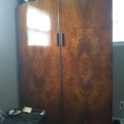 Is This Wardrobe Made From Burl Wood?