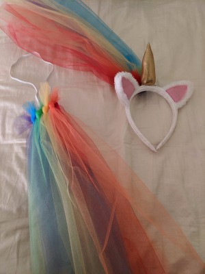 Unicorn Halloween Costume - headband and tail
