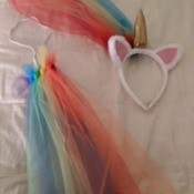 Unicorn Halloween Costume - headband and tail