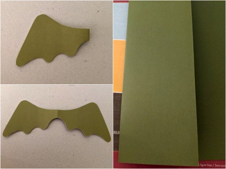 Dragon Pumpkin Decoration - fold the green paper and cut a wing on the fold, freehand