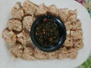 Thai Siomai with chili sauce