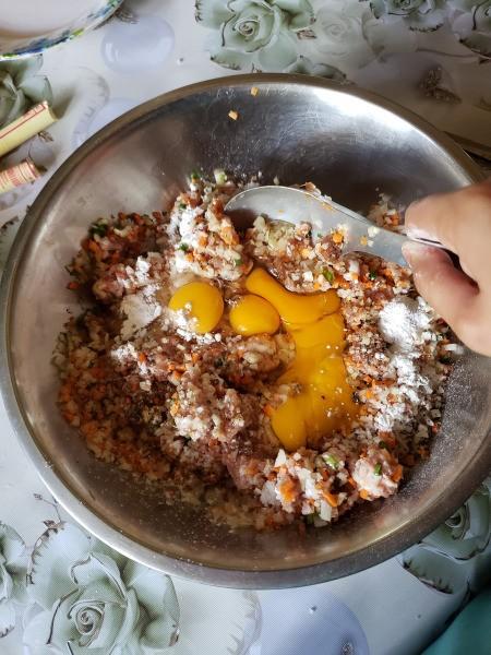 mixing ingredients in bowl