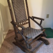Value of a 1890s Vintage Rocker - tall backed rattan (seat and back) glider rocker