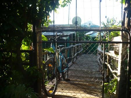 Bamboo Garden Gate - cut a piece of bamboo to size vertically