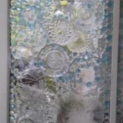 DIY Old Window Decoration - finished window