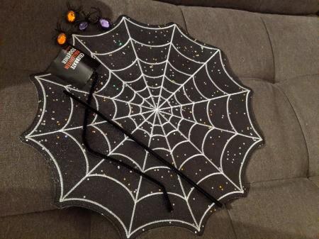 Halloween Spiderweb Placemat Wreath - supplies