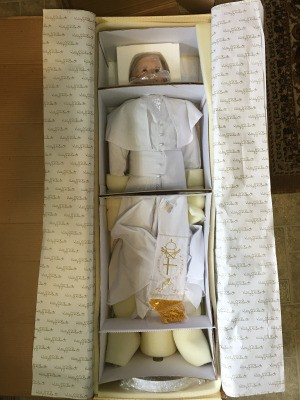 Value of Large Pope John Paul II Kelly Rubert Doll - pope doll still in the box