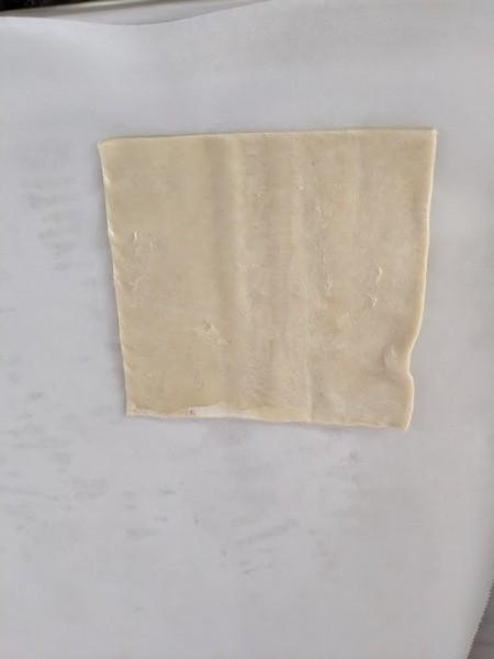 cut puff pastry sheet