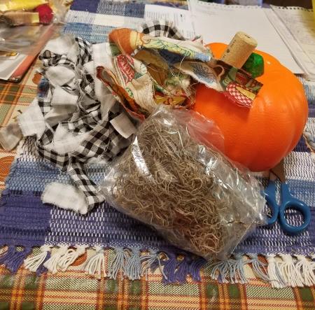 Yarn Covered Pumpkin - supplies