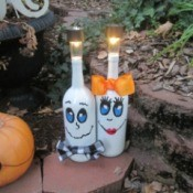 Mr & Mrs. Boo Outdoor Lighting Decor