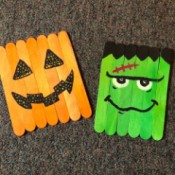 Halloween Craft Stick Puzzles - two craft stick puzzles