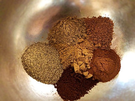 ground spices in bowl