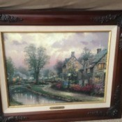 Value of a Thomas Kinkade Print - framed print