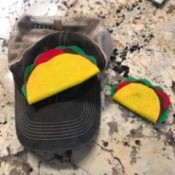 "Halloween Taco Accessories for Adults - hat and hair clip taco accessories for adult Halloween ""costumes"""