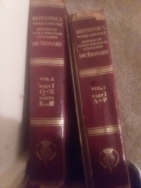 Value of Encyclopedia Britannica and Wagnalls Dictionary