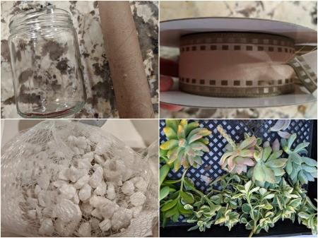 Succulent Jar Centerpiece - supplies