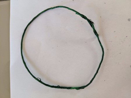 Hanging Halloween Themed Hoop Decoration - bend wire to create a circle, wrap end to secure