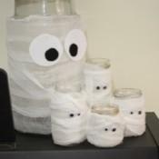 Jar Mummy Halloween Decoration