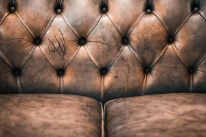 Sharpie Marker on Leather Couch