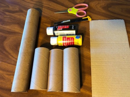 Cardboard Tube Haunted House - supplies