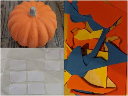 Mini Rainbows Decorated Pumpkin - supplies