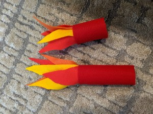 Blowing Fire Costume Accessory - finished fire accessories