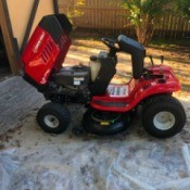 Troy-Bilt Riding Mower Won't Move - red riding mower