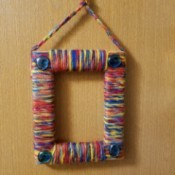 Yarn Wrapped Frame - hanging yarn wrapped frame