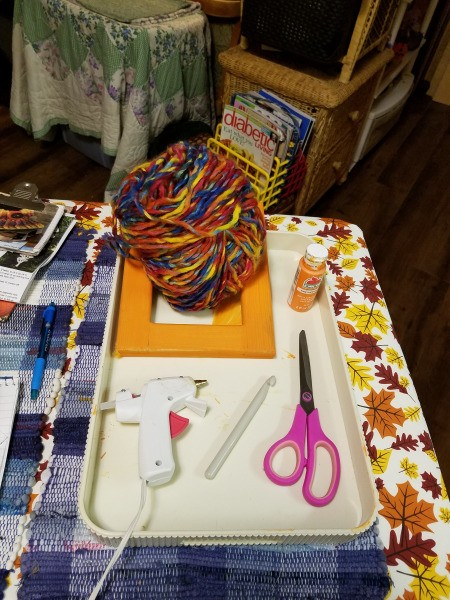 Yarn Wrapped Frame - supplies