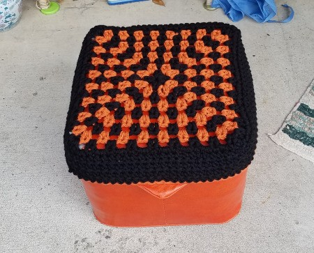 Recovering an Old Hassock - done