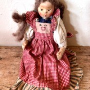 Value of an Old Doll - oldish cloth and perhaps wood folk looking doll