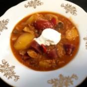 Beetroot Borscht in bowl