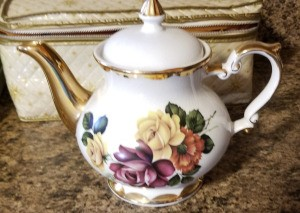 Value of a Gibson Teapot  - teapot with floral pattern and gold spout