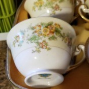 Value of Meito China Cups - cups with handles and pretty floral pattern