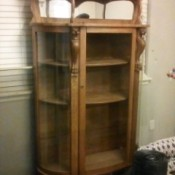 Identifying a Vintage Curio Cabinet