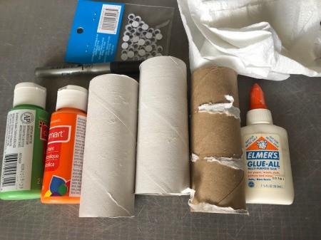 Cardboard Halloween Napkin Rings - supplies