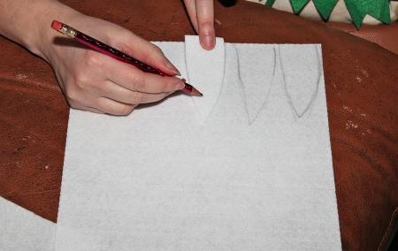 Little Shop of Horrors Costumes - drawing teeth on stiff white felt