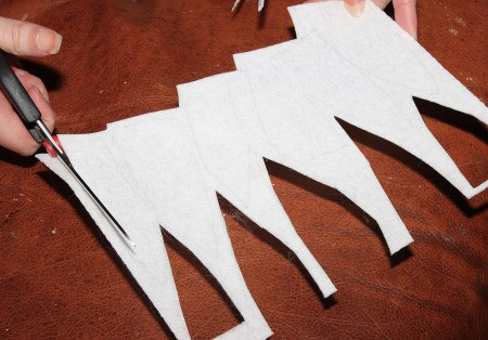 Little Shop of Horrors Costumes - cutting them out