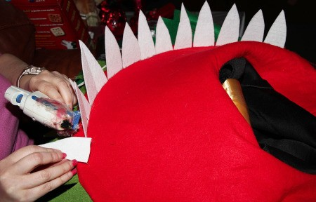 Little Shop of Horrors Costumes - glueing in place