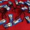 Halloween Candy Spiders - candy packages and two spiders