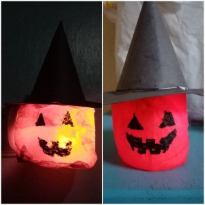 Witch Pumpkin Lamp - vertical and horizontal alignments
