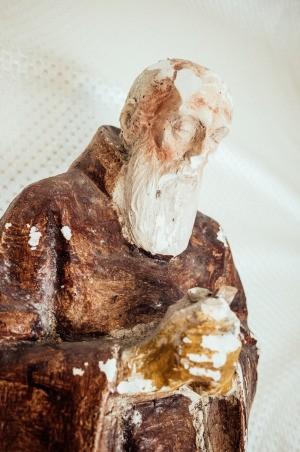 Identifying a Chalkware Monk Statue - very worn figurine