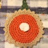 Punky Pie Hot Pad Wall Hanging  - decorative pumpkin pie hot pad